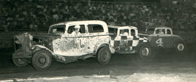 4 bob eichor in joe collins ford coupe cejay stadium wichita kansas 1951 jim edwards photo from the bill collins collection