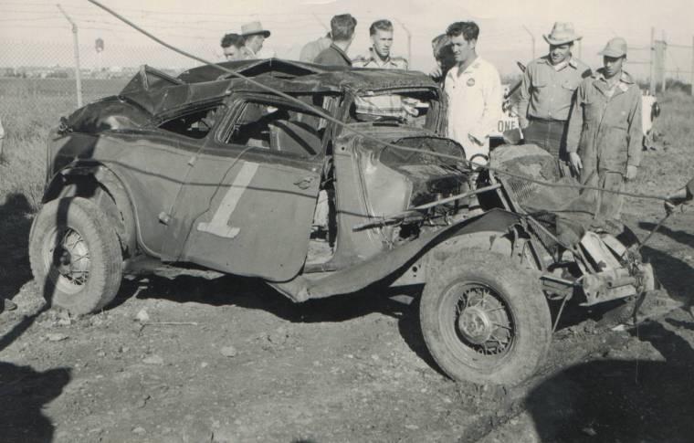 Vintage Dirt Track Stock Car Racing Wrecks Page 1