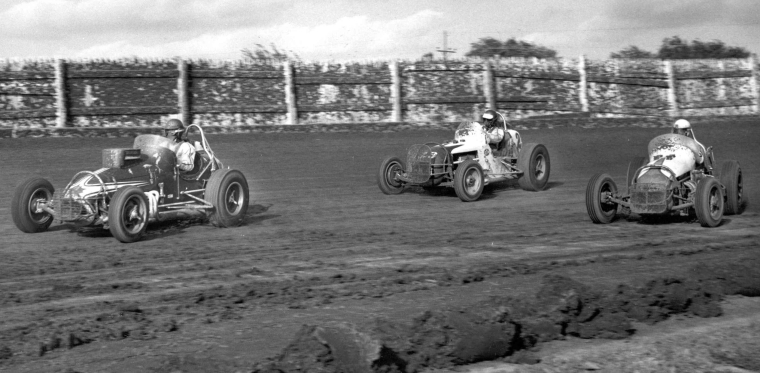Sprint Car Races At Hutchinson Kansas On September 17 1966